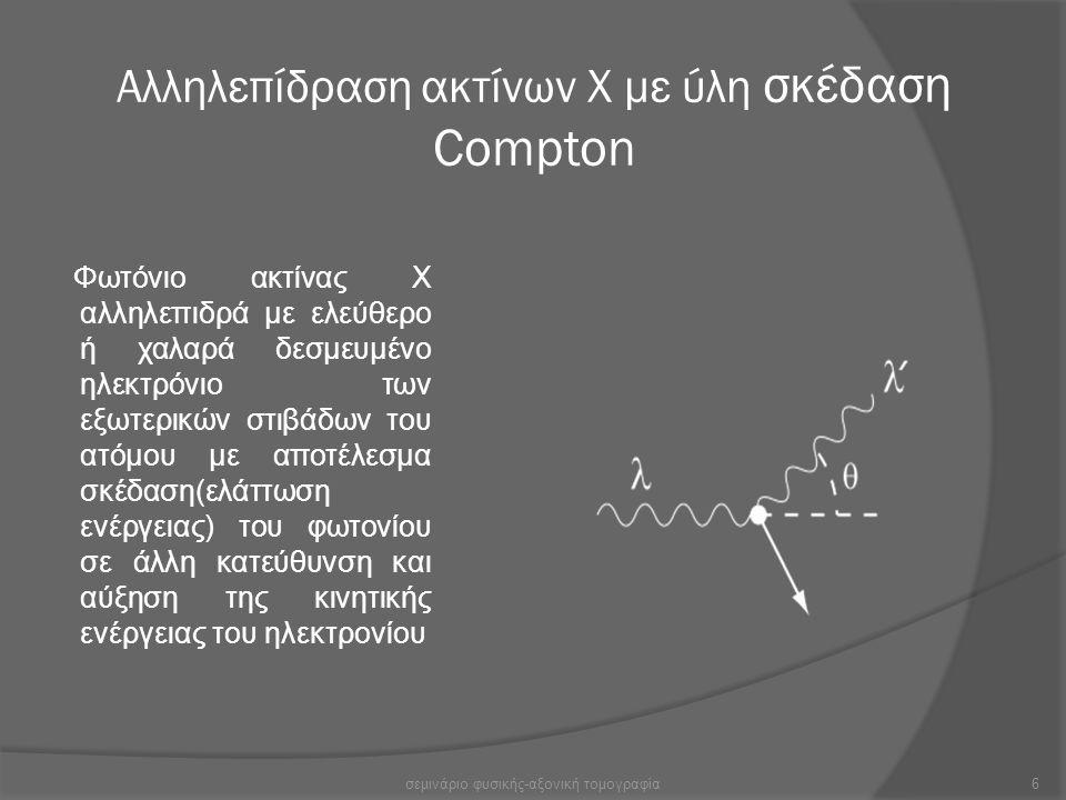 Αλληλεπίδραση ακτίνων Χ με ύλη σκέδαση Compton