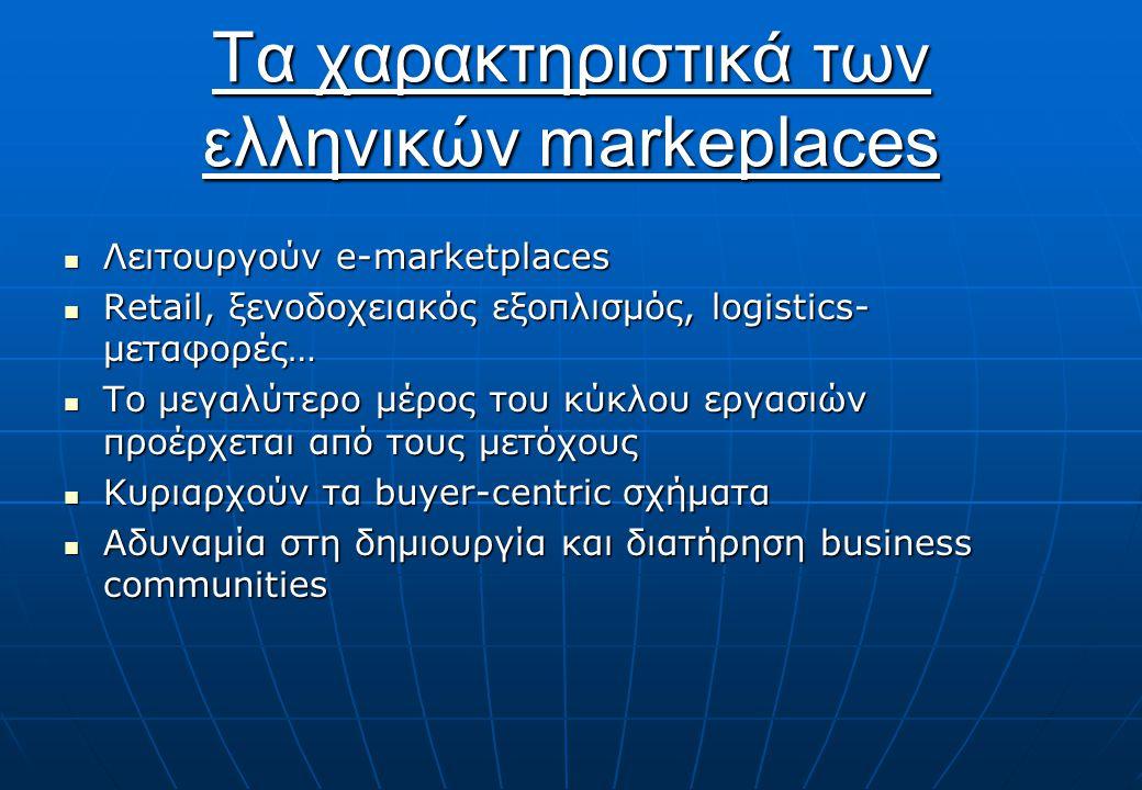 Τα χαρακτηριστικά των ελληνικών markeplaces