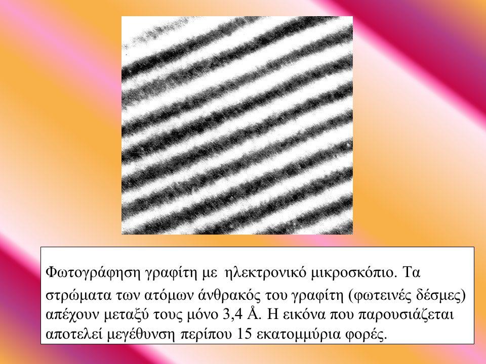 Φωτογράφηση γραφίτη με ηλεκτρονικό μικροσκόπιο