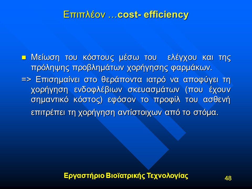 Επιπλέον …cost- efficiency