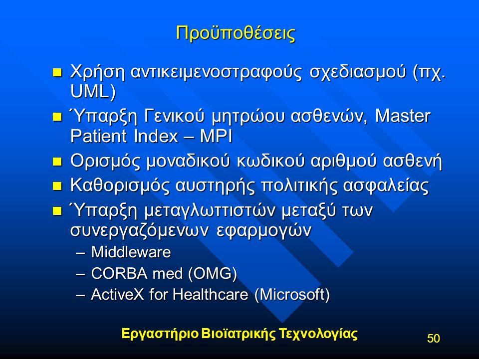 Χρήση αντικειμενοστραφούς σχεδιασμού (πχ. UML)