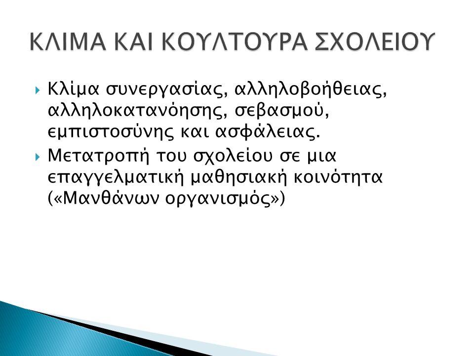ΚΛΙΜΑ ΚΑΙ ΚΟΥΛΤΟΥΡΑ ΣΧΟΛΕΙΟΥ
