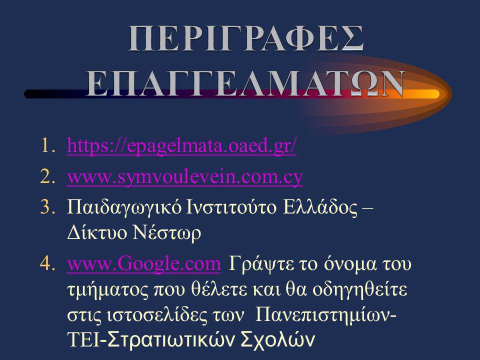 ΠΕΡΙΓΡΑΦΕΣ ΕΠΑΓΓΕΛΜΑΤΩΝ