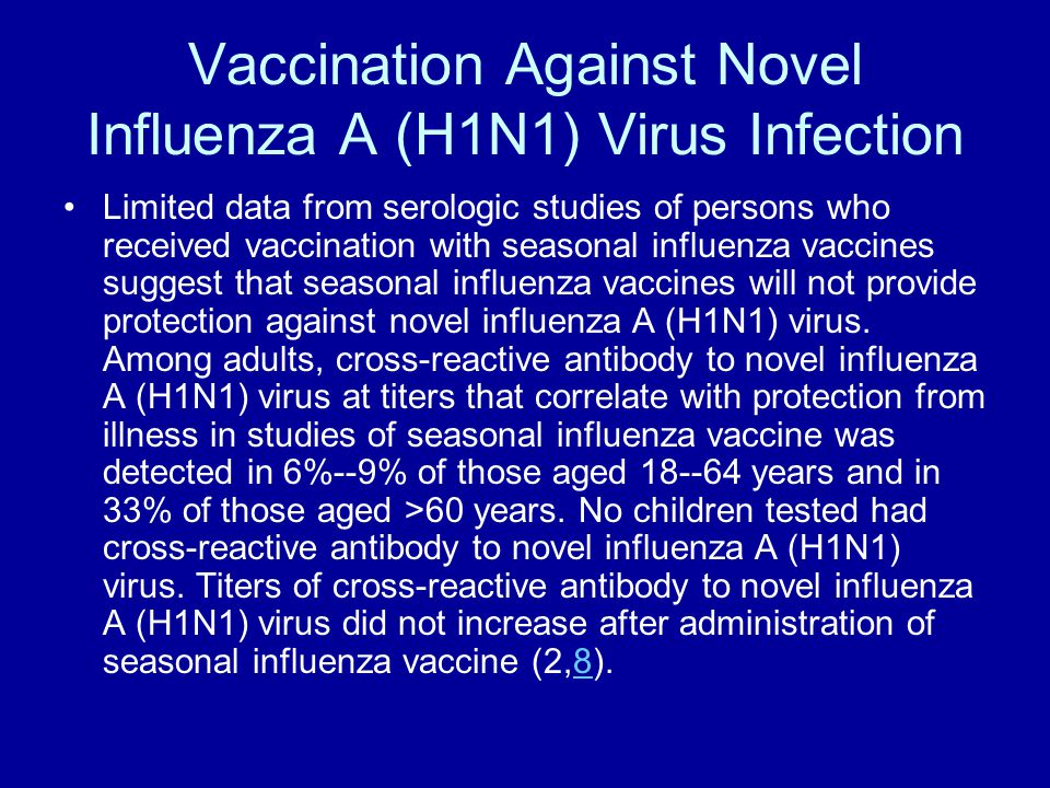 Vaccination Against Novel Influenza A (H1N1) Virus Infection