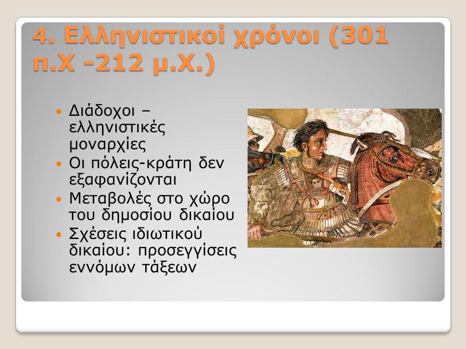 4. Ελληνιστικοί χρόνοι (301 π.Χ -212 μ.Χ.)