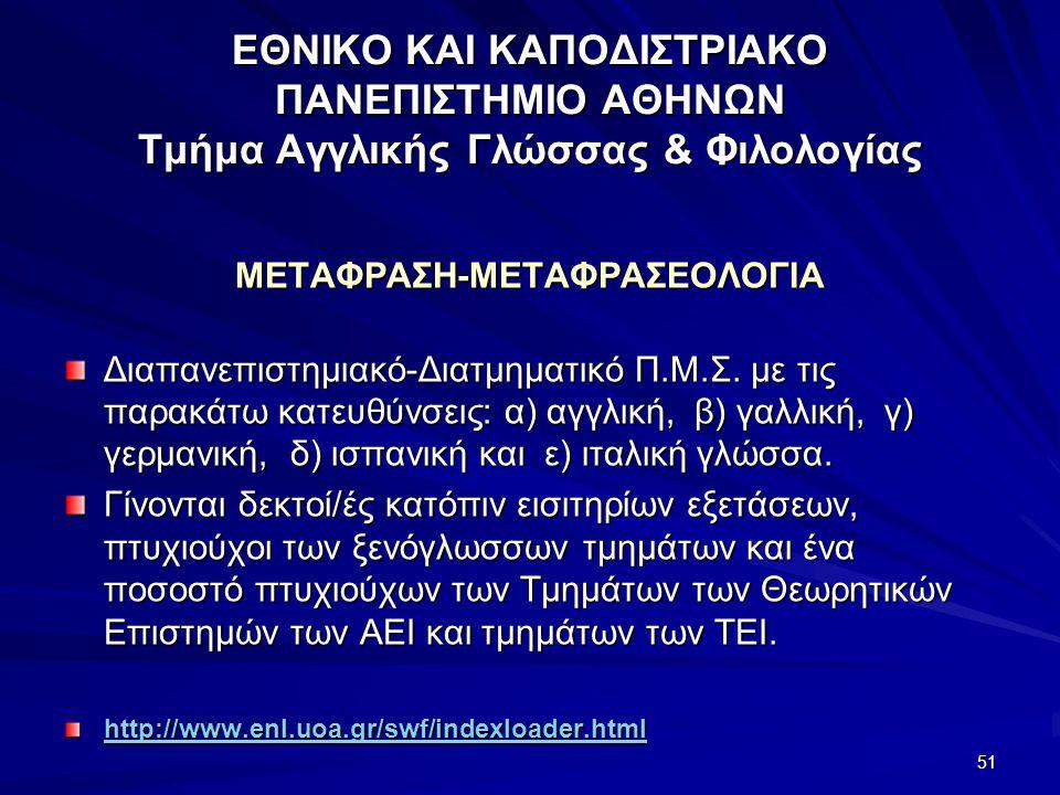 ΜΕΤΑΦΡΑΣΗ-ΜΕΤΑΦΡΑΣΕΟΛΟΓΙΑ