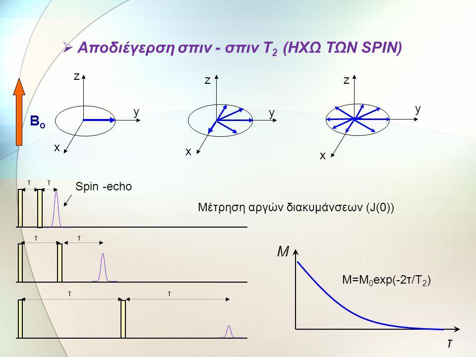 Αποδιέγερση σπιν - σπιν Τ2 (ΗΧΩ ΤΩΝ SPIN)