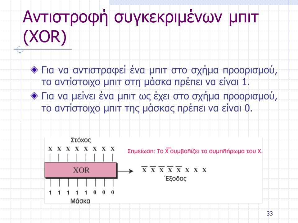 Αντιστροφή συγκεκριμένων μπιτ (XOR)