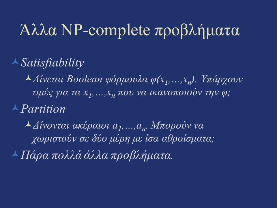 Άλλα NP-complete προβλήματα