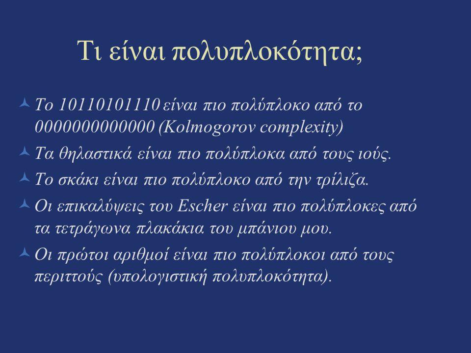 Τι είναι πολυπλοκότητα;
