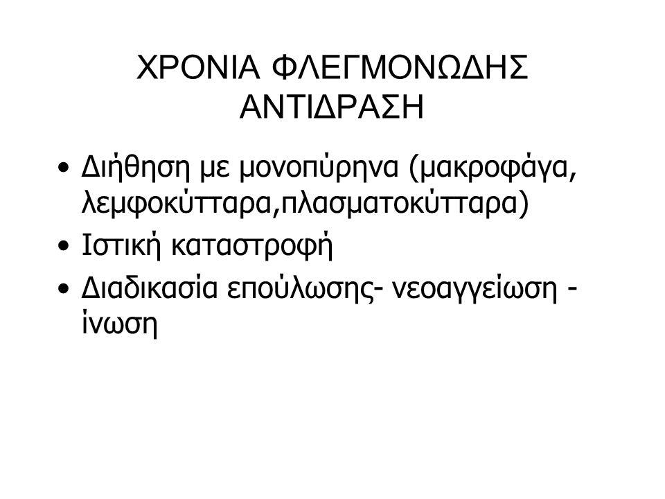 ΧΡΟΝΙΑ ΦΛΕΓΜΟΝΩΔΗΣ ΑΝΤΙΔΡΑΣΗ