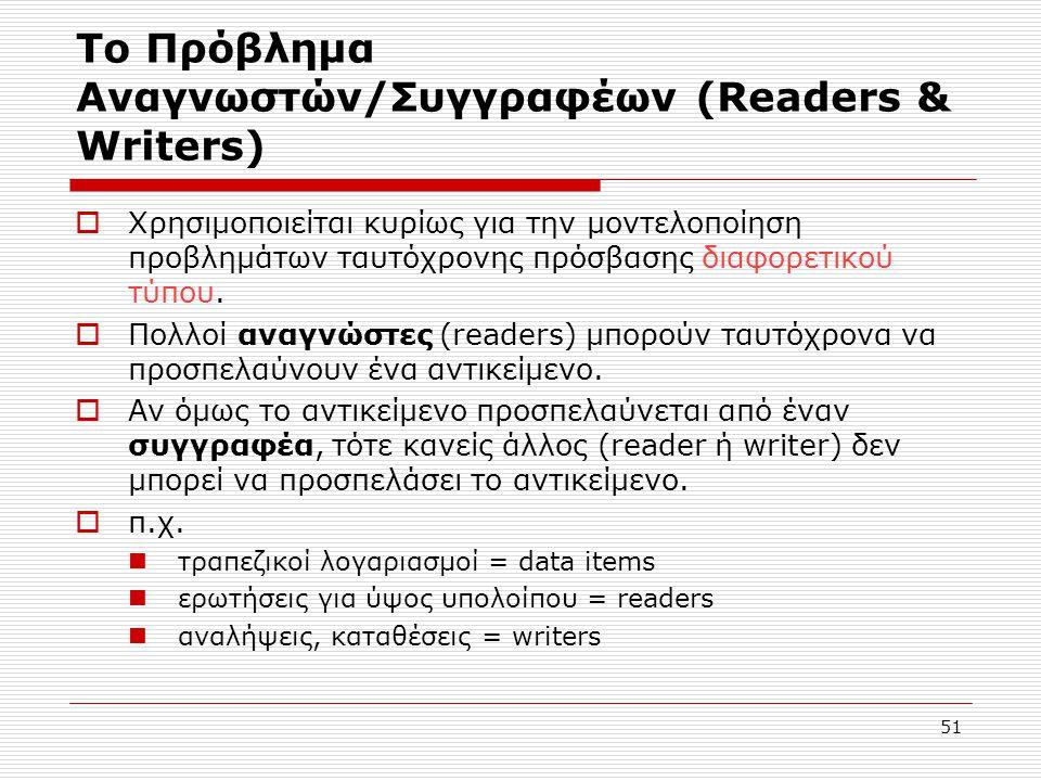 Το Πρόβλημα Αναγνωστών/Συγγραφέων (Readers & Writers)