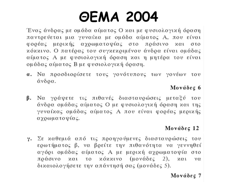 ΘΕΜΑ 2004