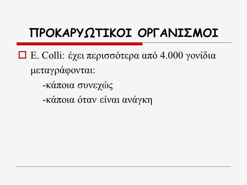 ΠΡΟΚΑΡΥΩΤΙΚΟΙ ΟΡΓΑΝΙΣΜΟΙ