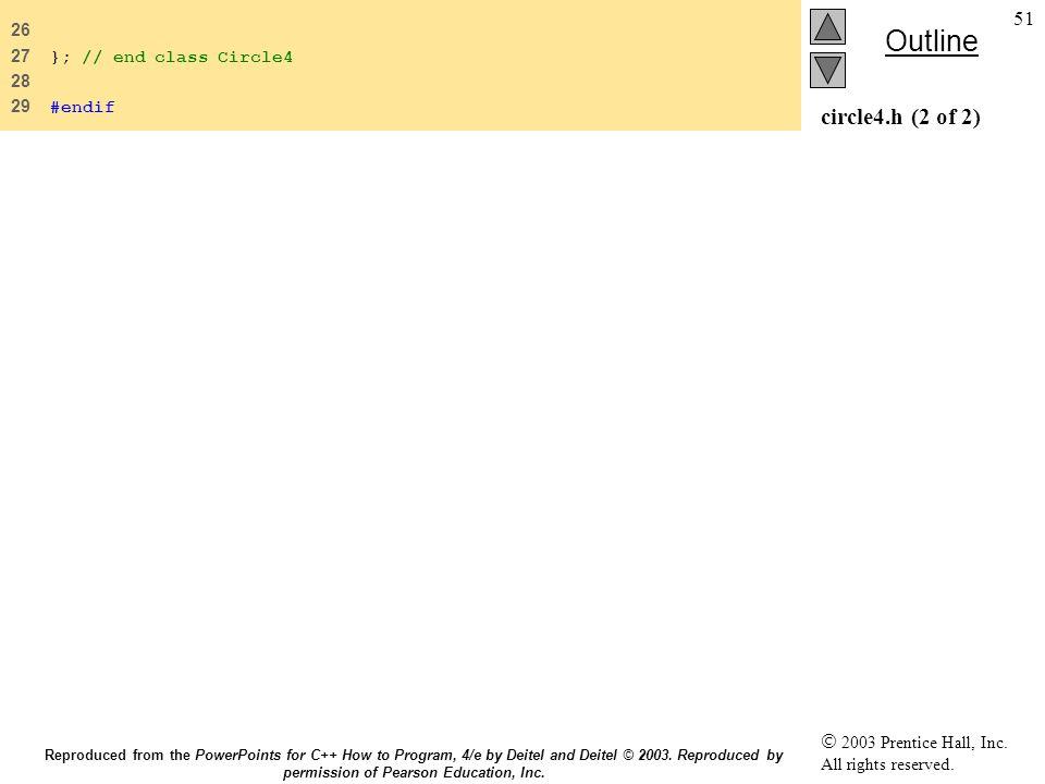 26 27 }; // end class Circle4 28 29 #endif