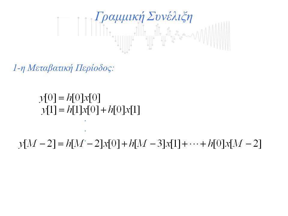 Γραμμική Συνέλιξη 1-η Μεταβατική Περίοδος: .