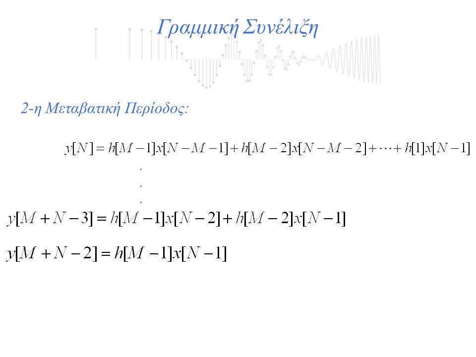Γραμμική Συνέλιξη 2-η Μεταβατική Περίοδος: .