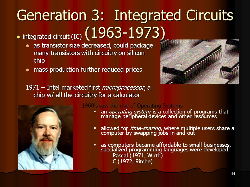 Generation 3: Integrated Circuits (1963-1973)
