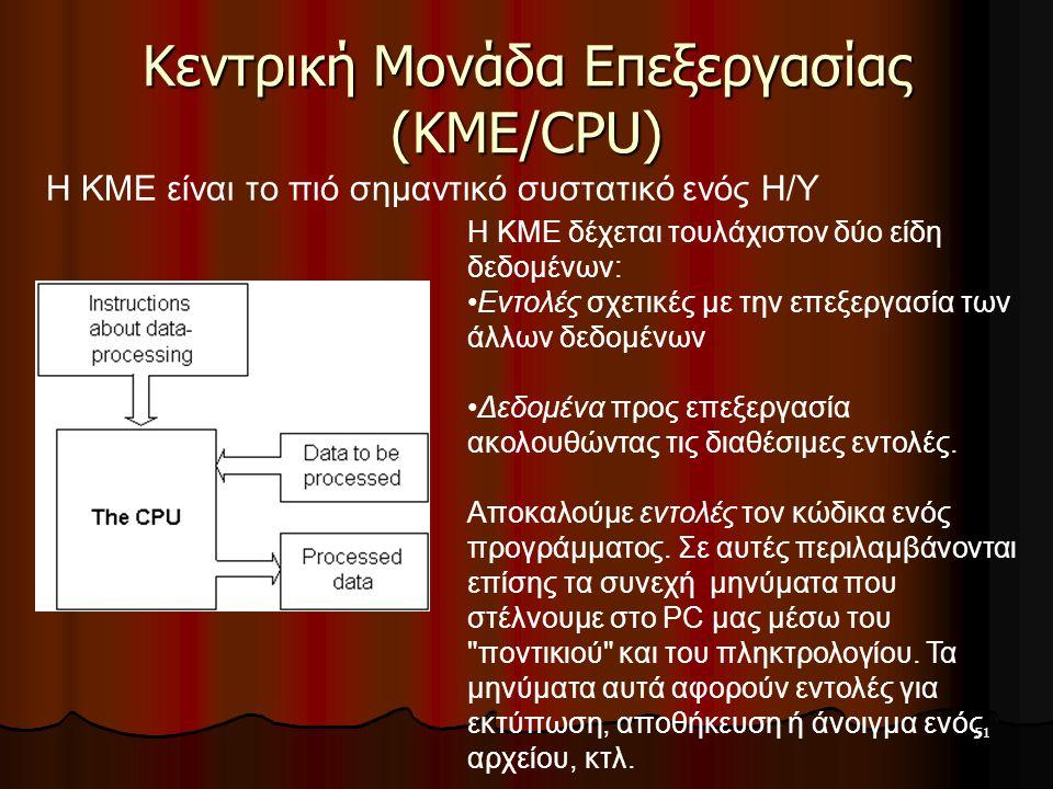Κεντρική Μονάδα Επεξεργασίας (ΚΜΕ/CPU)