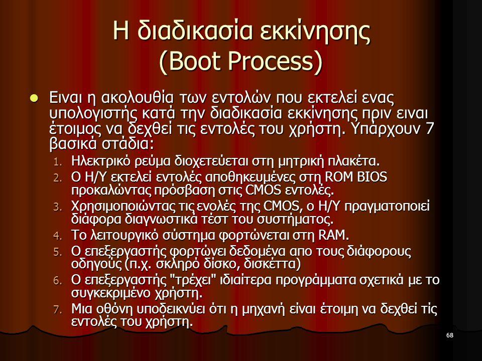 Η διαδικασία εκκίνησης (Boot Process)