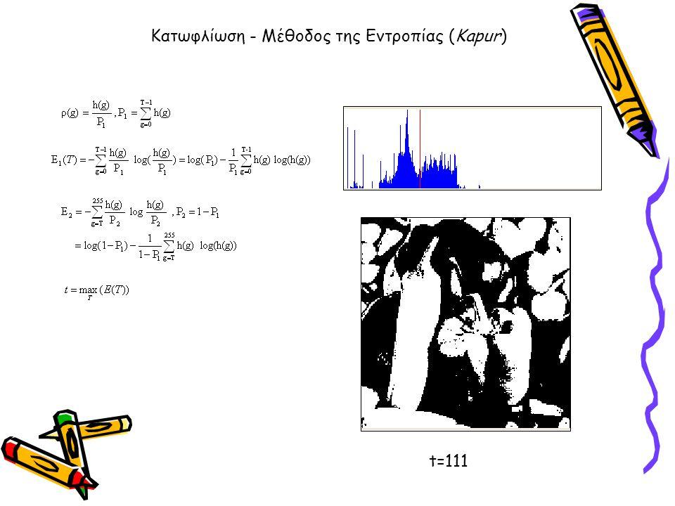 Κατωφλίωση - Μέθοδος της Εντροπίας (Kapur)