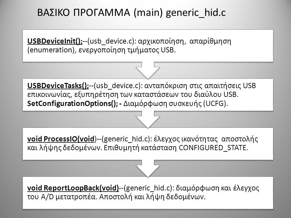 ΒΑΣΙΚΟ ΠΡΟΓΑΜΜΑ (main) generic_hid.c