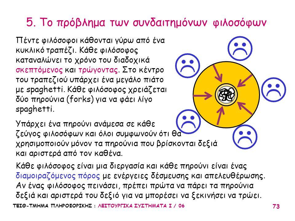 5. Το πρόβλημα των συνδαιτημόνων φιλοσόφων