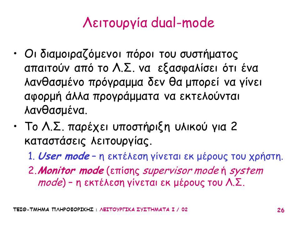 Λειτουργία dual-mode