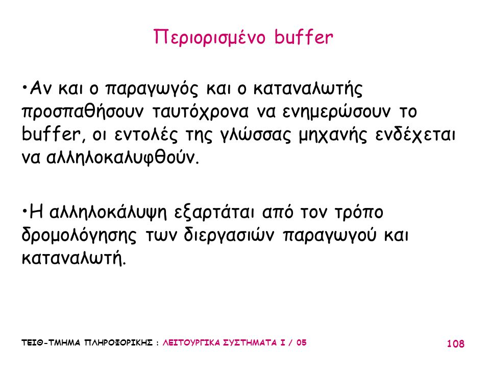 Περιορισμένο buffer