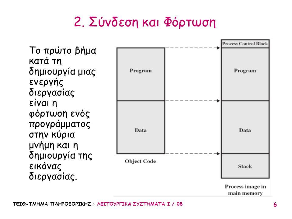2. Σύνδεση και Φόρτωση