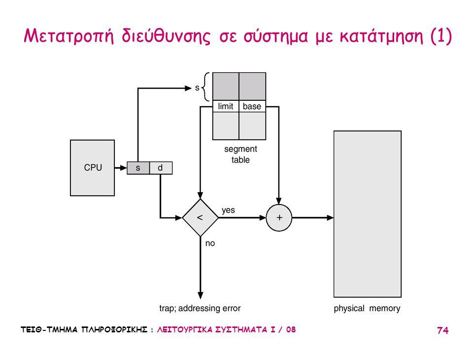 Μετατροπή διεύθυνσης σε σύστημα με κατάτμηση (1)