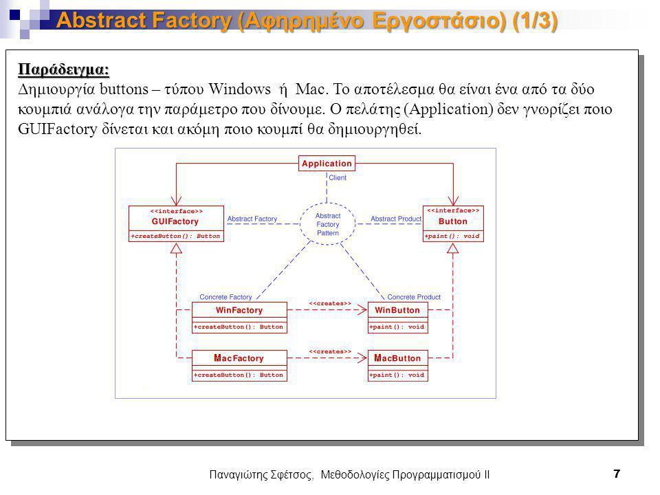 Abstract Factory (Αφηρημένο Εργοστάσιο) (1/3)