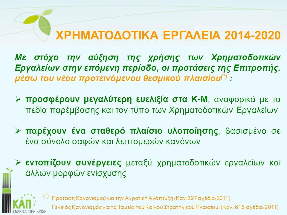 ΧΡΗΜΑΤΟΔΟΤΙΚΑ ΕΡΓΑΛΕΙΑ 2014-2020