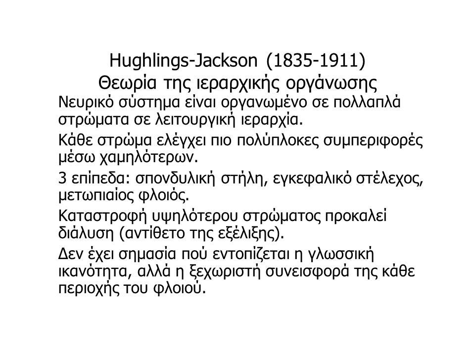 Hughlings-Jackson (1835-1911) Θεωρία της ιεραρχικής οργάνωσης