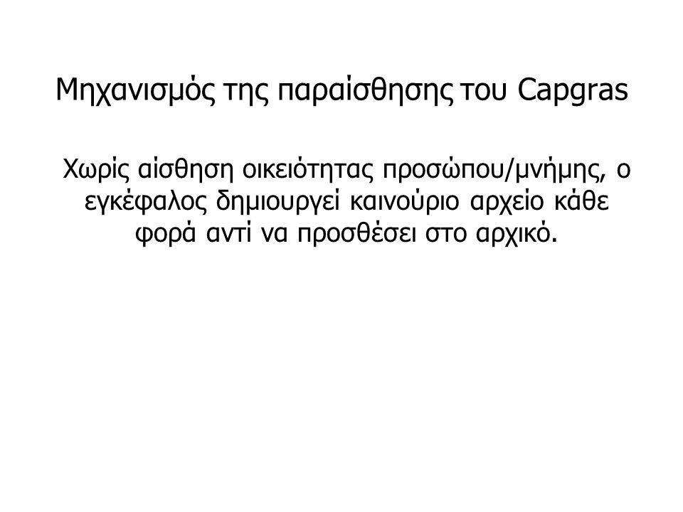Μηχανισμός της παραίσθησης του Capgras