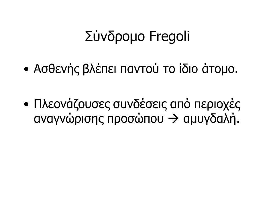Σύνδρομο Fregoli Ασθενής βλέπει παντού το ίδιο άτομο.