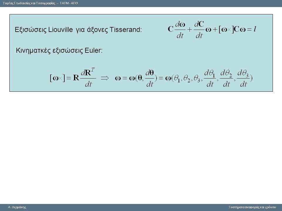 Κινηματκές εξισώσεις Euler: