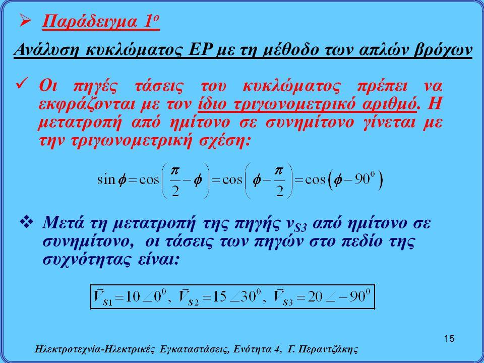 Ανάλυση κυκλώματος ΕΡ με τη μέθοδο των απλών βρόχων