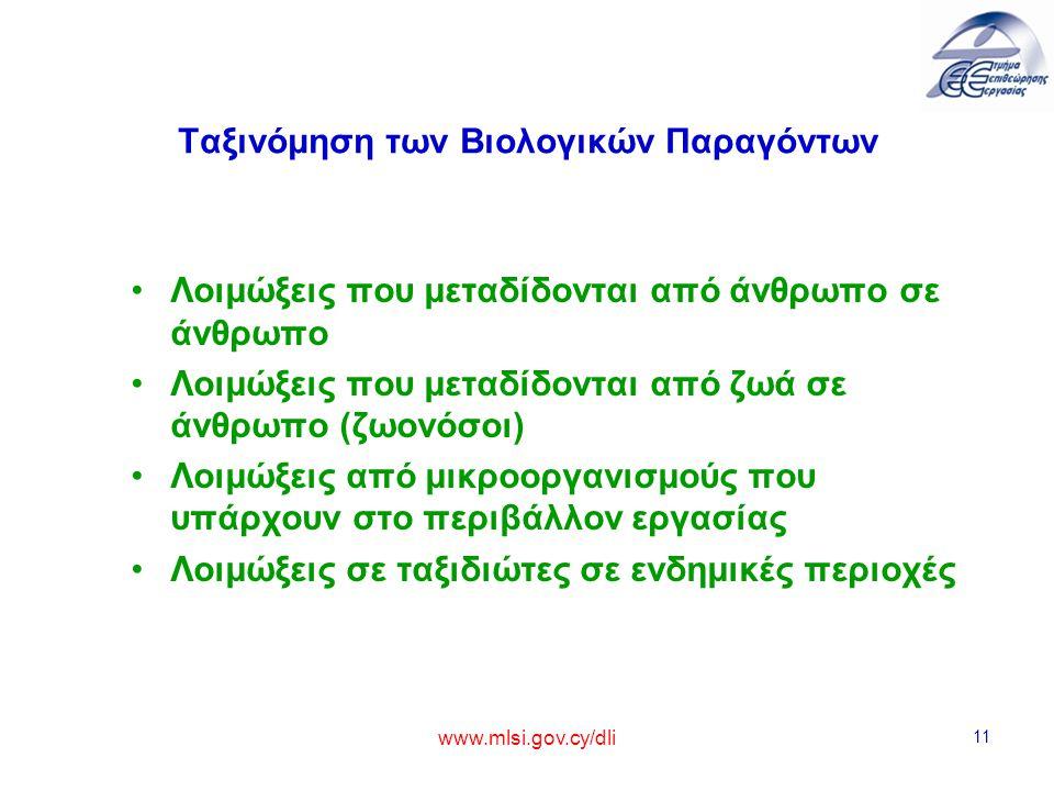 Ταξινόμηση των Βιολογικών Παραγόντων