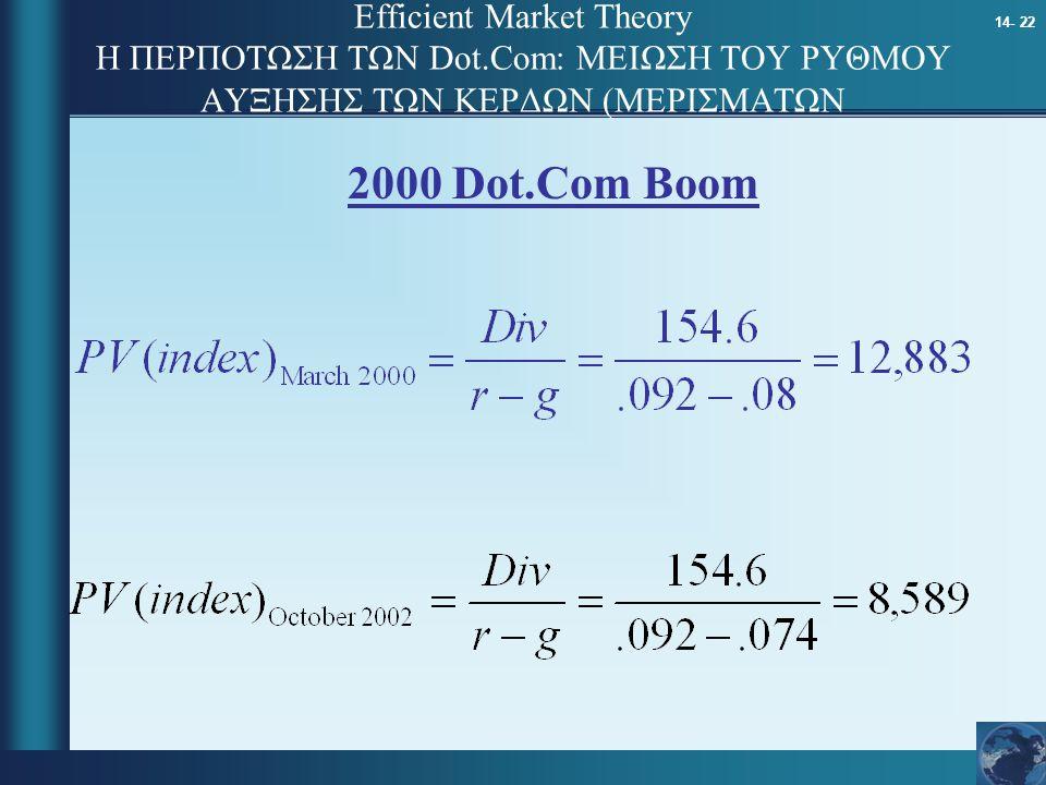 Efficient Market Theory Η ΠΕΡΠΟΤΩΣΗ ΤΩΝ Dot