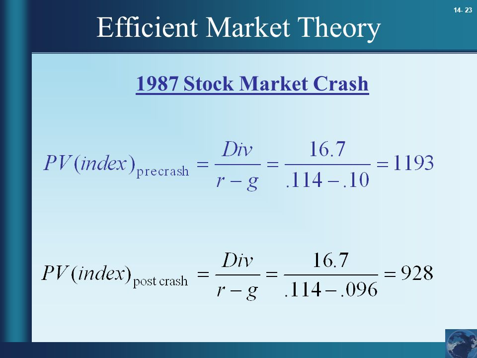 Efficient Market Theory