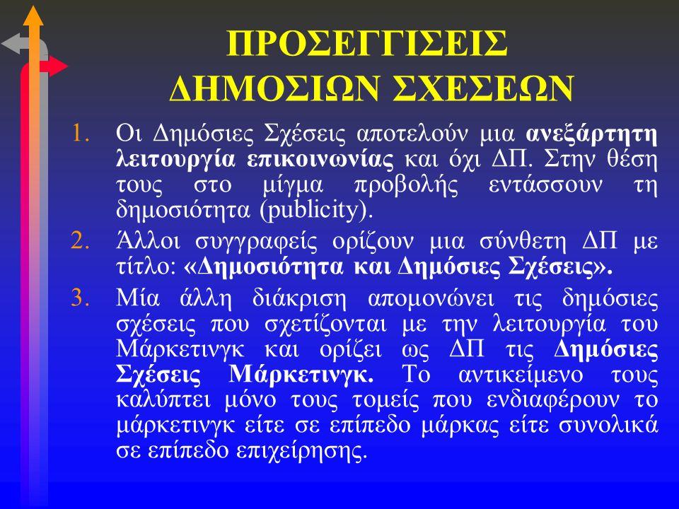 ΠΡΟΣΕΓΓΙΣΕΙΣ ΔΗΜΟΣΙΩΝ ΣΧΕΣΕΩΝ