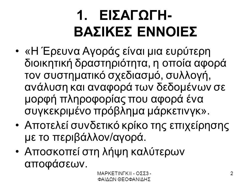 ΕΙΣΑΓΩΓΗ- ΒΑΣΙΚΕΣ ΕΝΝΟΙΕΣ