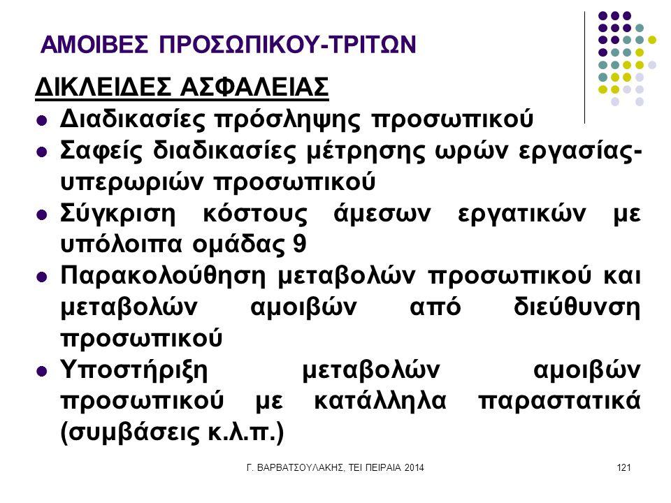 ΑΜΟΙΒΕΣ ΠΡΟΣΩΠΙΚΟΥ-ΤΡΙΤΩΝ