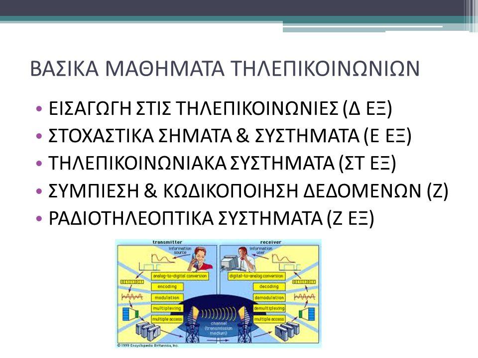 ΒΑΣΙΚΑ ΜΑΘΗΜΑΤΑ ΤΗΛΕΠΙΚΟΙΝΩΝΙΩΝ