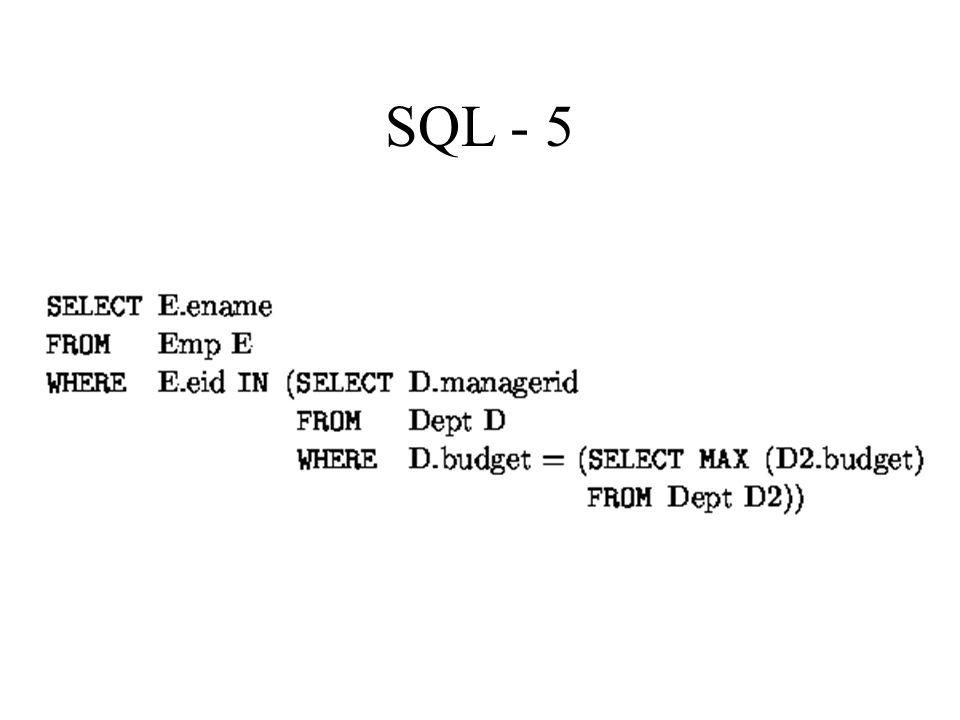 SQL - 5