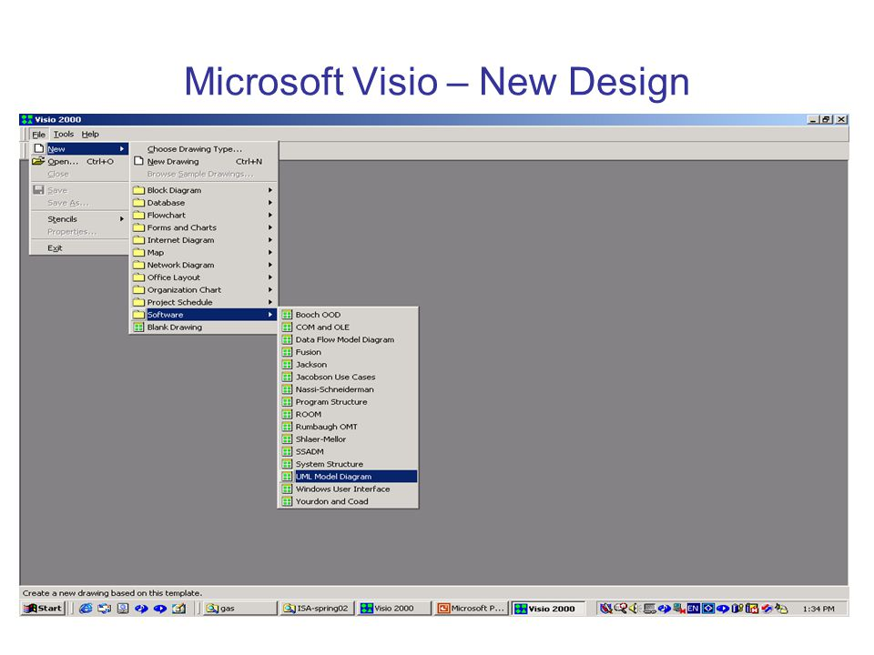 Microsoft Visio – New Design