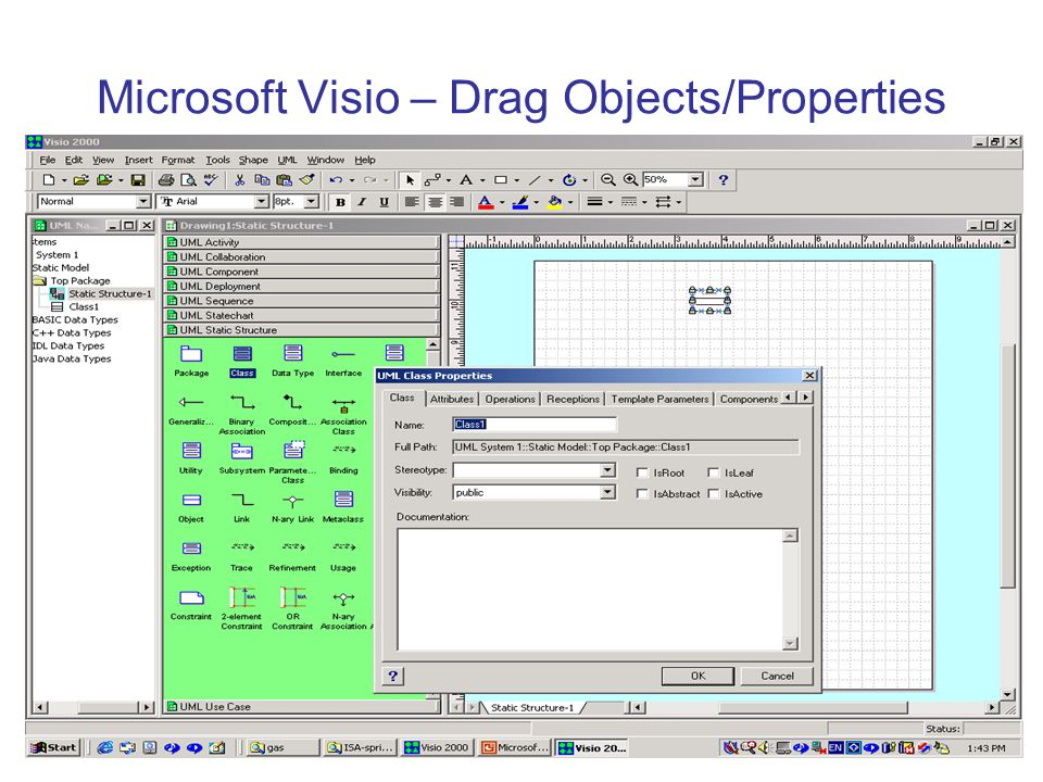Microsoft Visio – Drag Objects/Properties