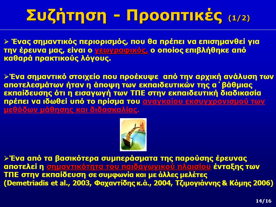 Συζήτηση - Προοπτικές (1/2)