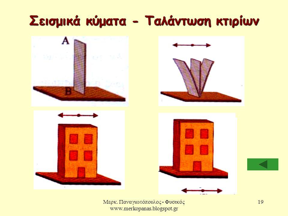 Σεισμικά κύματα - Ταλάντωση κτιρίων